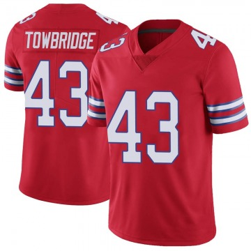 Youth Nike Buffalo Bills Keith Towbridge Red Color Rush Vapor Untouchable Jersey - Limited