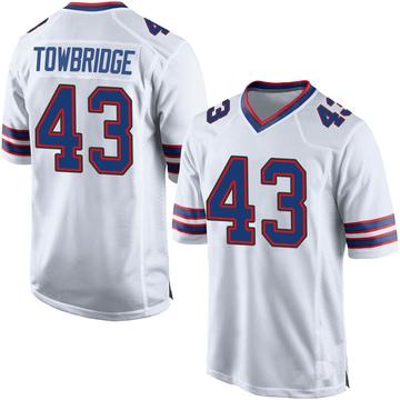 Youth Nike Buffalo Bills Keith Towbridge White Jersey - Game