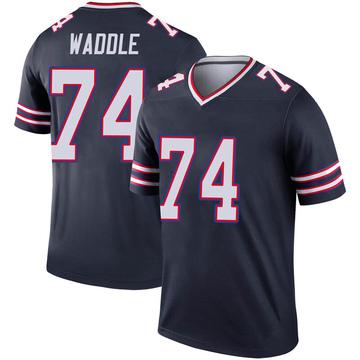 Youth Nike Buffalo Bills LaAdrian Waddle Navy Inverted Jersey - Legend