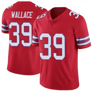Youth Nike Buffalo Bills Levi Wallace Red Color Rush Vapor Untouchable Jersey - Limited