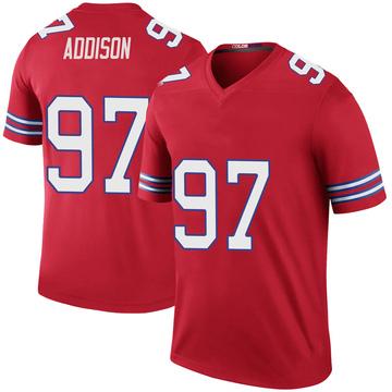 Youth Nike Buffalo Bills Mario Addison Red Color Rush Jersey - Legend