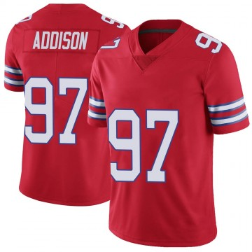Youth Nike Buffalo Bills Mario Addison Red Color Rush Vapor Untouchable Jersey - Limited