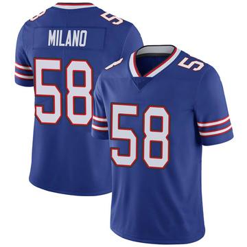 Youth Nike Buffalo Bills Matt Milano Royal 100th Vapor Jersey - Limited