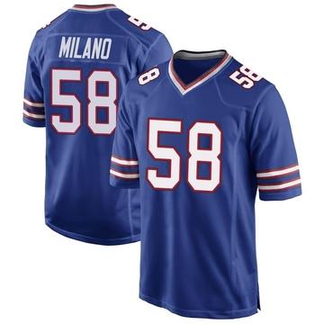 Youth Nike Buffalo Bills Matt Milano Royal Blue Team Color Jersey - Game