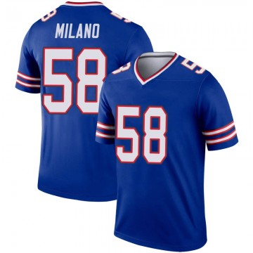 Youth Nike Buffalo Bills Matt Milano Royal Inverted Jersey - Legend
