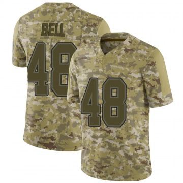 Youth Nike Buffalo Bills Mike Bell Camo 2018 Salute to Service Jersey - Limited