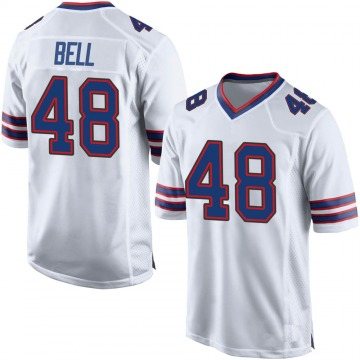 Youth Nike Buffalo Bills Mike Bell White Jersey - Game
