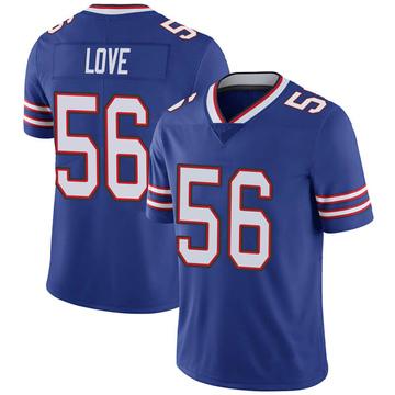 Youth Nike Buffalo Bills Mike Love Royal 100th Vapor Jersey - Limited