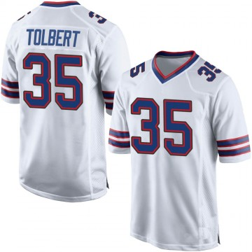 Youth Nike Buffalo Bills Mike Tolbert White Jersey - Game