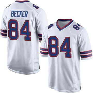 Youth Nike Buffalo Bills Nate Becker White Jersey - Game