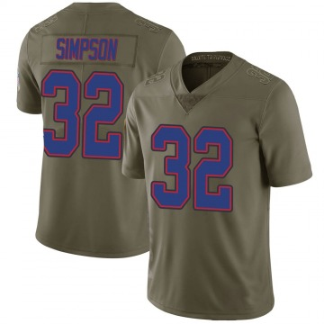 Youth Nike Buffalo Bills O. J. Simpson Green 2017 Salute to Service Jersey - Limited