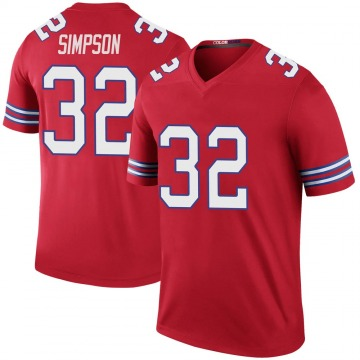 Youth Nike Buffalo Bills O. J. Simpson Red Color Rush Jersey - Legend