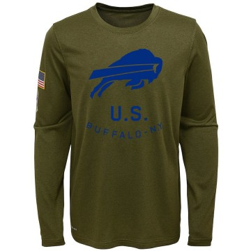 Youth Nike Buffalo Bills Olive 2018 Salute to Service Performance Long Sleeve T-Shirt - Legend