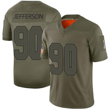 Youth Nike Buffalo Bills Quinton Jefferson Camo 2019 Salute to Service Jersey - Limited