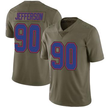 Youth Nike Buffalo Bills Quinton Jefferson Green 2017 Salute to Service Jersey - Limited