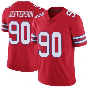 Youth Nike Buffalo Bills Quinton Jefferson Red Color Rush Vapor Untouchable Jersey - Limited