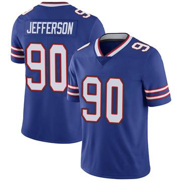 Youth Nike Buffalo Bills Quinton Jefferson Royal 100th Vapor Jersey - Limited