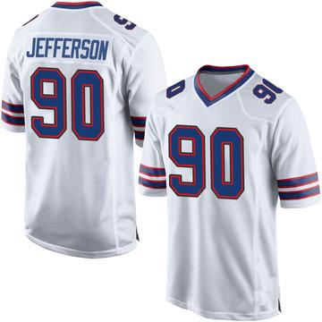 Youth Nike Buffalo Bills Quinton Jefferson White Jersey - Game