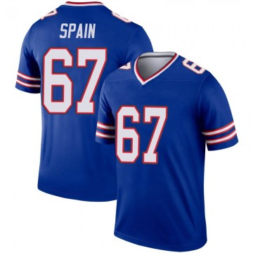 Youth Nike Buffalo Bills Quinton Spain Royal Inverted Jersey - Legend