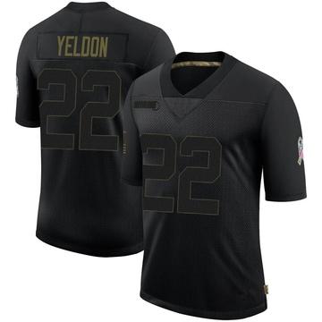 Youth Nike Buffalo Bills T.J. Yeldon Black 2020 Salute To Service Jersey - Limited
