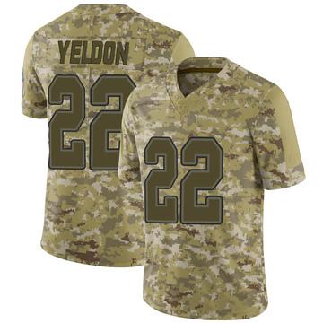 Youth Nike Buffalo Bills T.J. Yeldon Camo 2018 Salute to Service Jersey - Limited