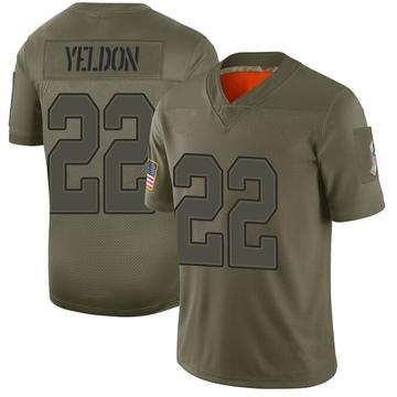 Youth Nike Buffalo Bills T.J. Yeldon Camo 2019 Salute to Service Jersey - Limited