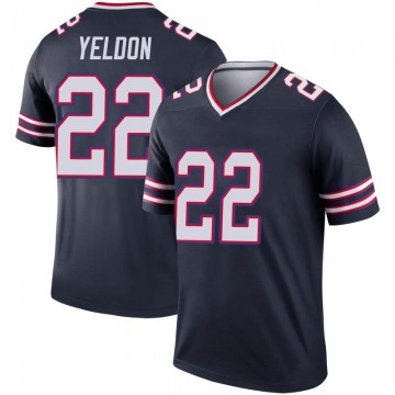 Youth Nike Buffalo Bills T.J. Yeldon Navy Inverted Jersey - Legend