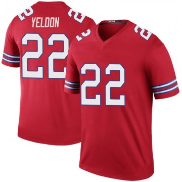 Youth Nike Buffalo Bills T.J. Yeldon Red Color Rush Jersey - Legend