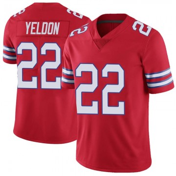 Youth Nike Buffalo Bills T.J. Yeldon Red Color Rush Vapor Untouchable Jersey - Limited