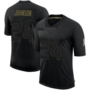 Youth Nike Buffalo Bills Taron Johnson Black 2020 Salute To Service Jersey - Limited