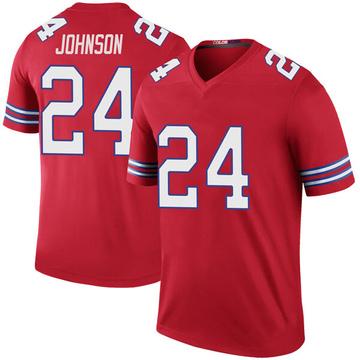 Youth Nike Buffalo Bills Taron Johnson Red Color Rush Jersey - Legend