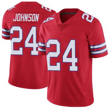 Youth Nike Buffalo Bills Taron Johnson Red Color Rush Vapor Untouchable Jersey - Limited