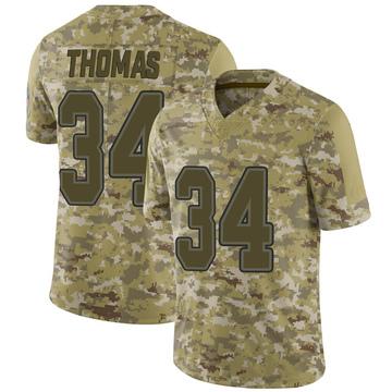 Youth Nike Buffalo Bills Thurman Thomas Camo 2018 Salute to Service Jersey - Limited