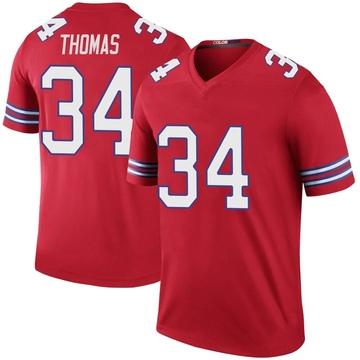 Youth Nike Buffalo Bills Thurman Thomas Red Color Rush Jersey - Legend