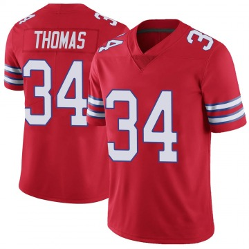 Youth Nike Buffalo Bills Thurman Thomas Red Color Rush Vapor Untouchable Jersey - Limited