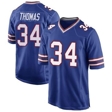 Youth Nike Buffalo Bills Thurman Thomas Royal Blue Team Color Jersey - Game
