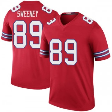 Youth Nike Buffalo Bills Tommy Sweeney Red Color Rush Jersey - Legend