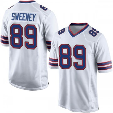 Youth Nike Buffalo Bills Tommy Sweeney White Jersey - Game