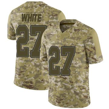 Youth Nike Buffalo Bills Tre'Davious White White Camo 2018 Salute to Service Jersey - Limited