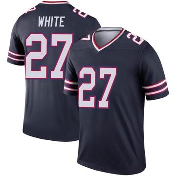 Youth Nike Buffalo Bills Tre'Davious White White Inverted Navy Jersey - Legend