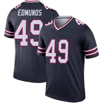 Youth Nike Buffalo Bills Tremaine Edmunds Navy Inverted Jersey - Legend