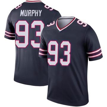 Youth Nike Buffalo Bills Trent Murphy Navy Inverted Jersey - Legend