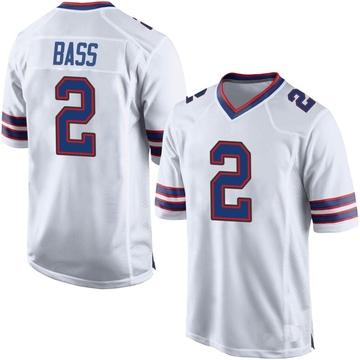 Youth Nike Buffalo Bills Tyler Bass White Jersey - Game