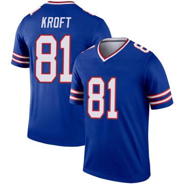 Youth Nike Buffalo Bills Tyler Kroft Royal Inverted Jersey - Legend
