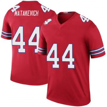 Youth Nike Buffalo Bills Tyler Matakevich Red Color Rush Jersey - Legend