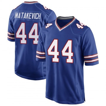 Youth Nike Buffalo Bills Tyler Matakevich Royal Blue Team Color Jersey - Game