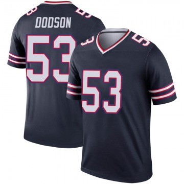 Youth Nike Buffalo Bills Tyrel Dodson Navy Inverted Jersey - Legend