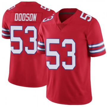 Youth Nike Buffalo Bills Tyrel Dodson Red Color Rush Vapor Untouchable Jersey - Limited