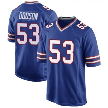 Youth Nike Buffalo Bills Tyrel Dodson Royal Blue Team Color Jersey - Game