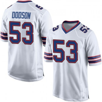 Youth Nike Buffalo Bills Tyrel Dodson White Jersey - Game